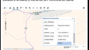 Actualización: Capa SIG Catastro Urbano y Rural de Salta