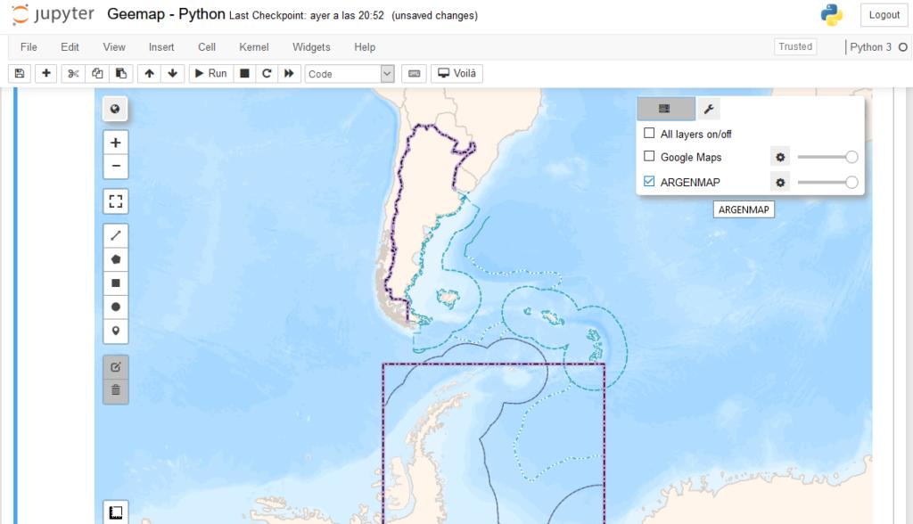 Qué es GEEMAP y como agregar la capa base de ARGENMAP a Google Earth Engine con Python